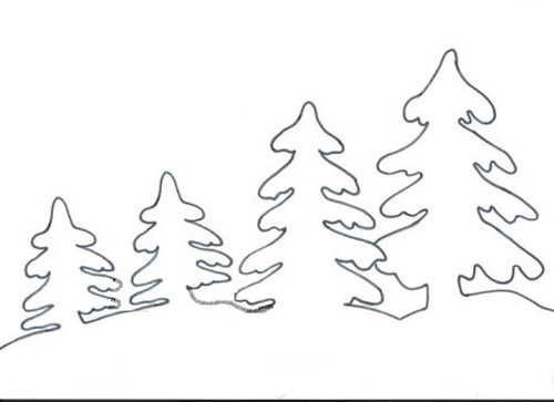Шаблон елки.