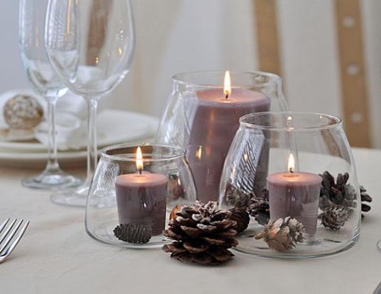 Новогодние композиции со свечами - простые и эффектные идеи
