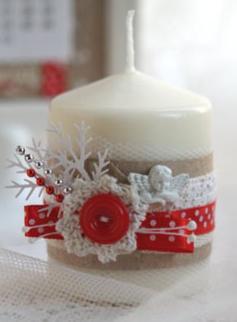 Три простых способа украсить свечи для новогоднего декора дома