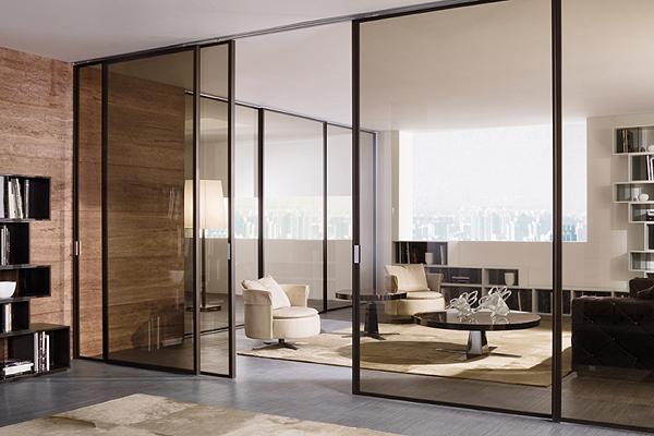 Раздвижные системы для стеклянных дверей
