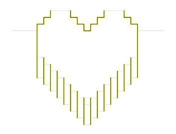 Объемная открытка с объемным сердцем