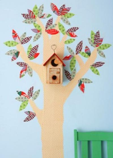 Как украсить остатками обоев комнату ребенка