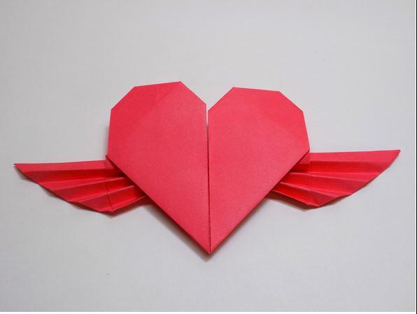 Сердце в технике оригами