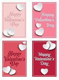 Две открытки с маленькими сердечками - как сделать