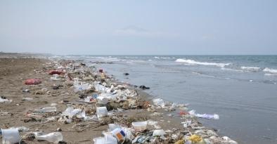 Коммунальные службы Барселоны убирают горы мусора с пляжей