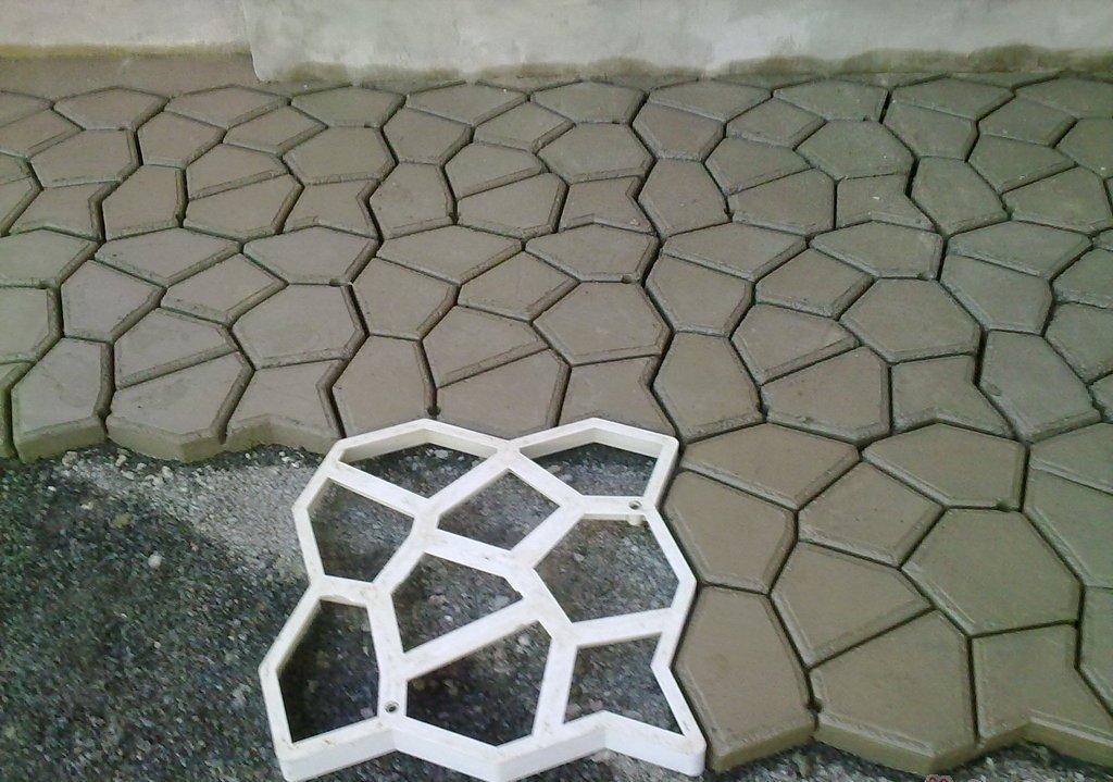 Тротуарная плитка из форм своими руками