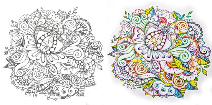 Современная арт-терапия: раскраски антистресс для взрослых ...