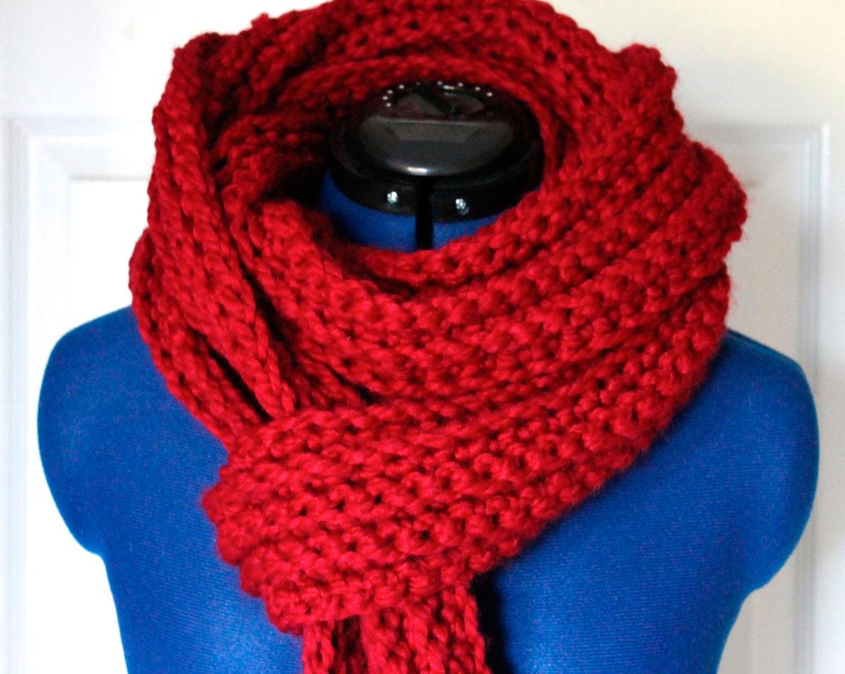 Как лучше связать детский шарф 107