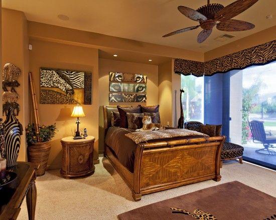 спальня в стиле сафари африка