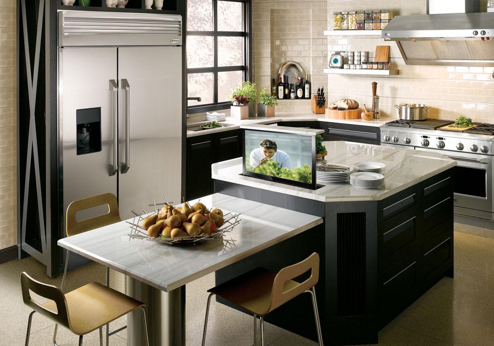 Кухня с телевизором для Близнецов