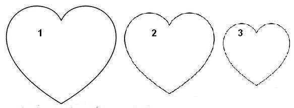 Выкройка для сердечка