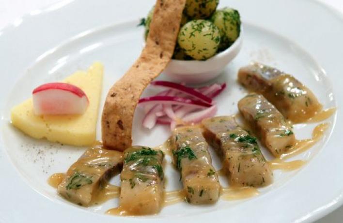 Селедка в горчичной заливке рецепт с пошагово в