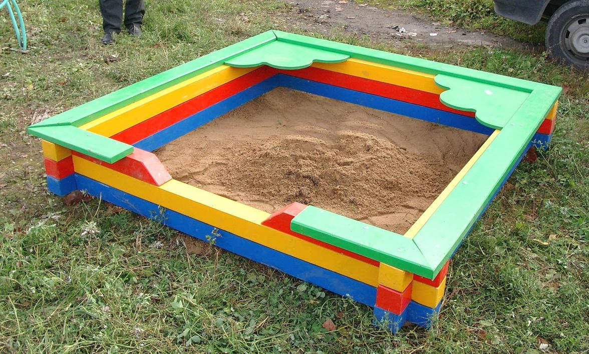 как разукрасить песочницу фото