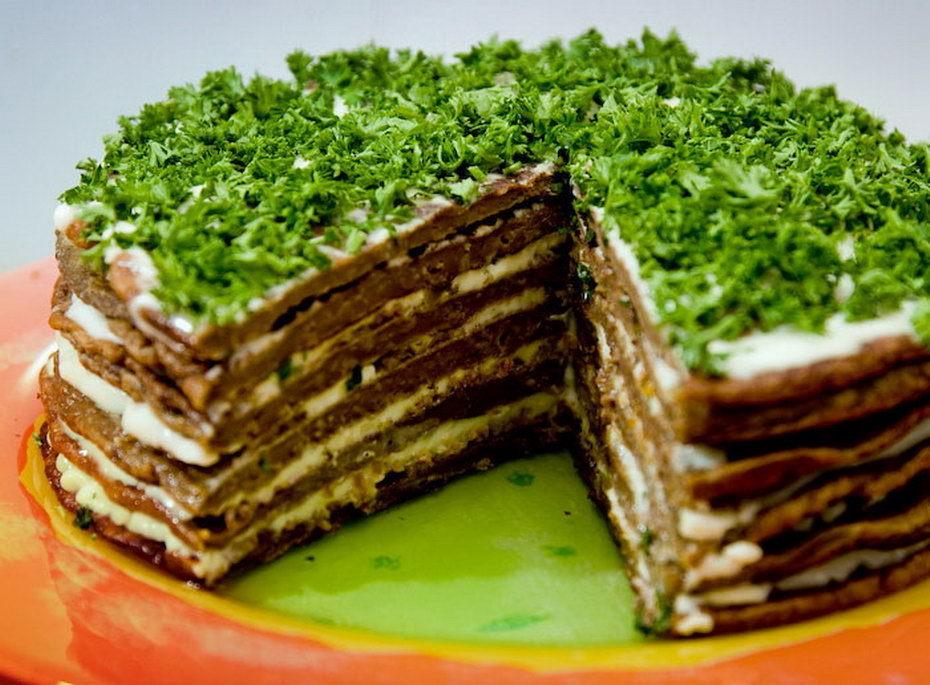 Торт из печени с пошаговый рецепт
