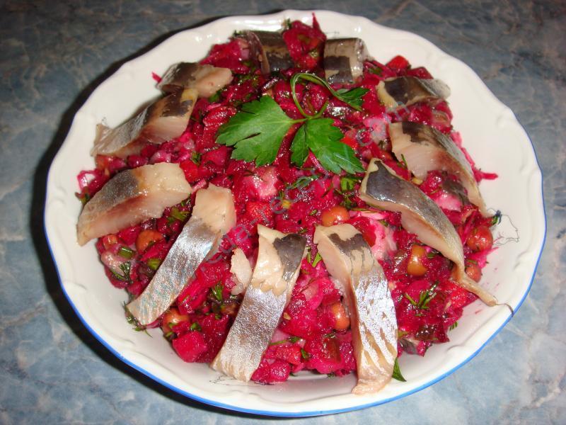 Винегрет с сельдью рецепт с пошагово