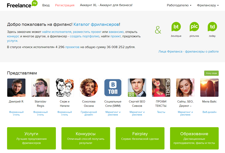 биржа фриланса freelance.ru