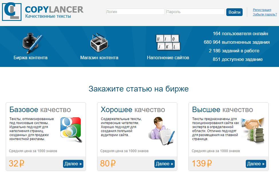 биржа копирайтинга copylancer.ru