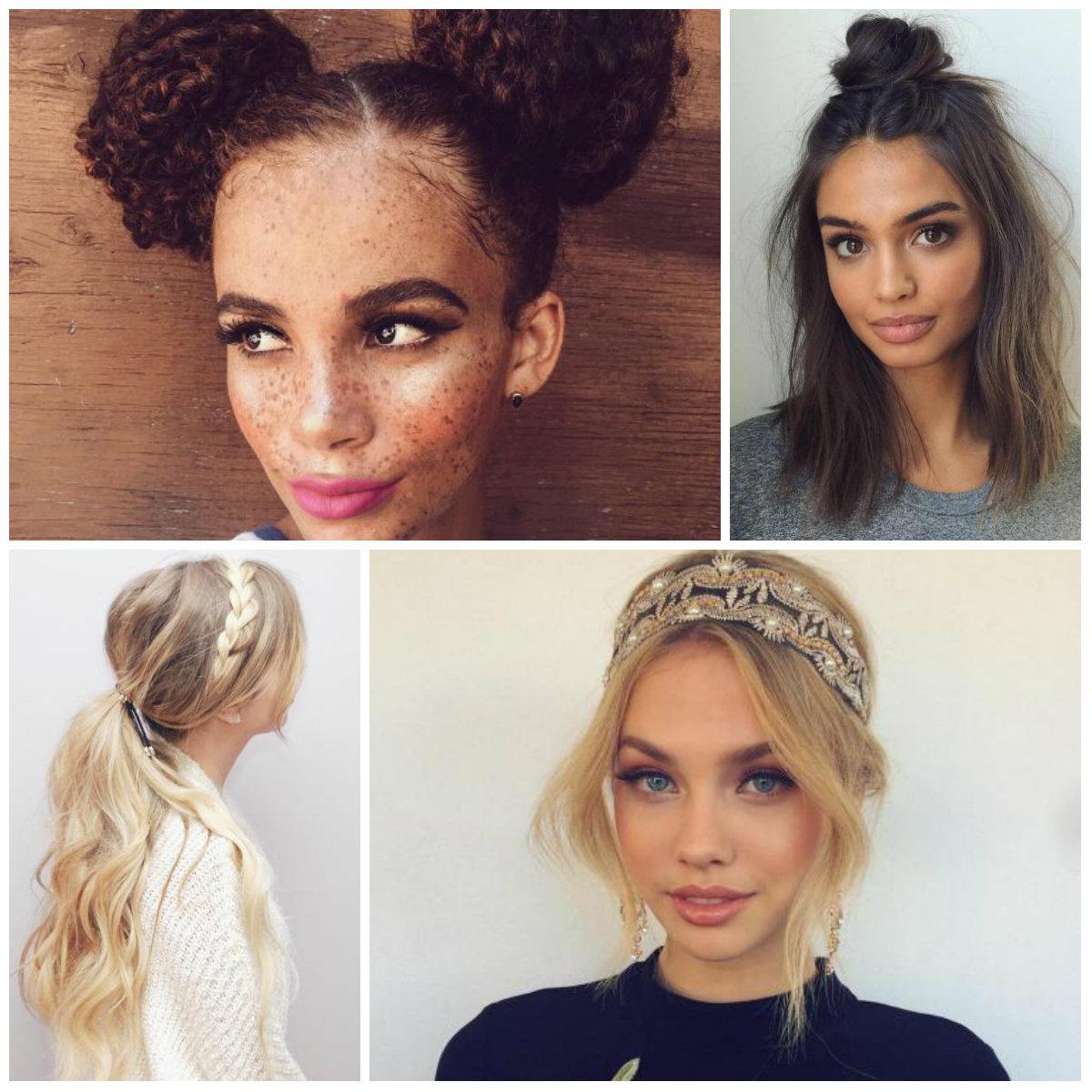 Модная челка 2017 на длинные волосы для девушек на каждый день