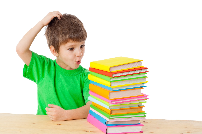Дети с книгами в картинках