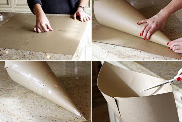 конус из бумаги своими руками