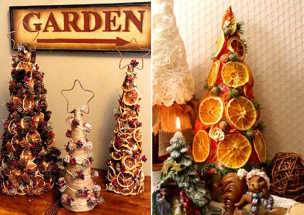 новогодняя елка из лимонных долек