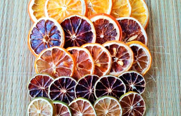 как засушить лимонные дольки