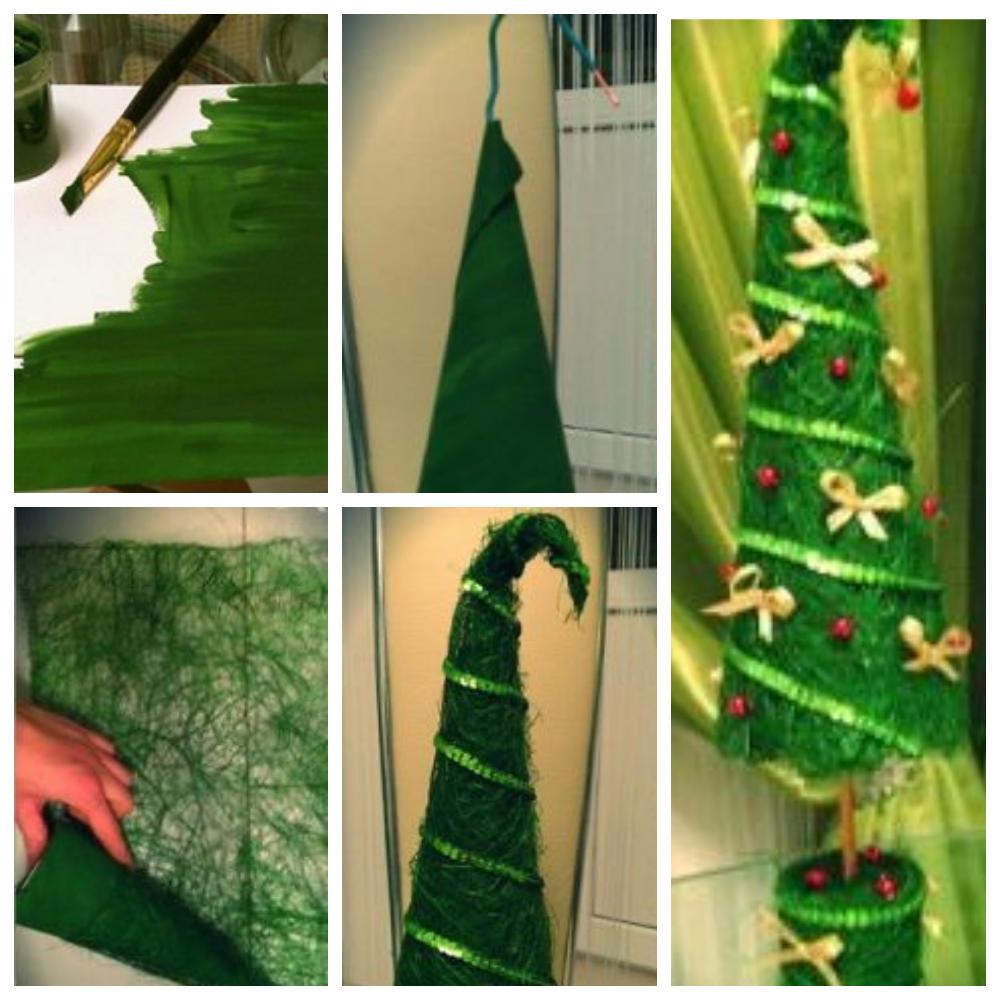 новогодняя елка из сизаля мастер-класс