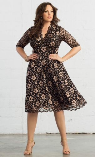 модные женские платья для полных женщин