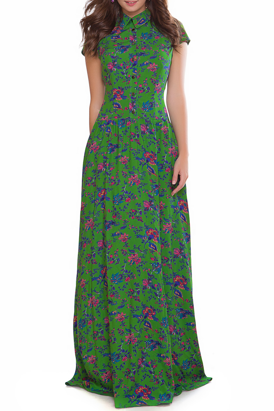 длинное платье с юбкой колокол