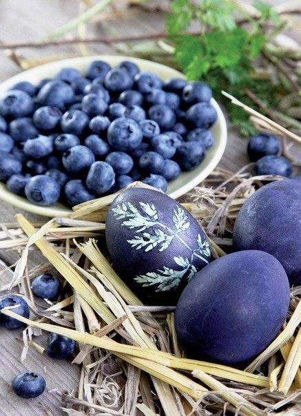 Как покрасить яйца на Пасху при помощи натуральных ...