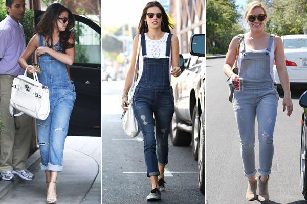 джинсовый комбинезон женский с чем носить