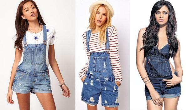 джинсовый комбинезон женский фото с чем носить