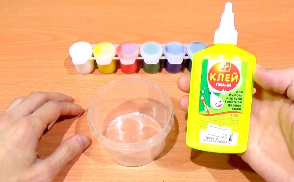 Как сделать лизуна только из соды и клея пва 562