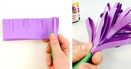 Люпины из цветной бумаги