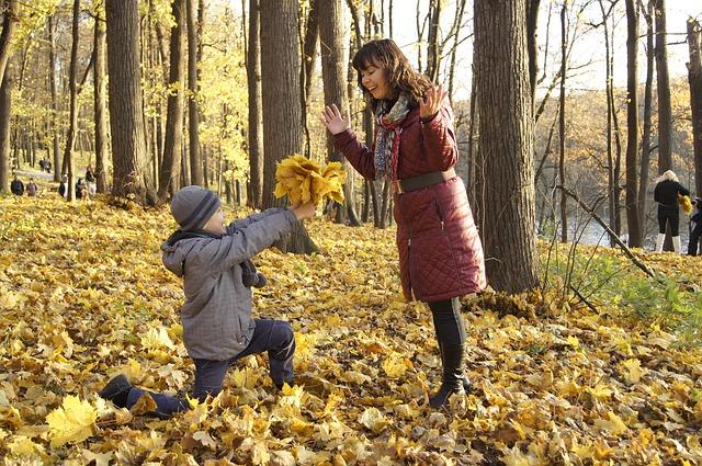 мальчик дарит цветы