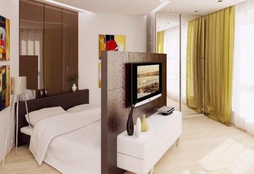 Простые способы зонирования пространства спальни