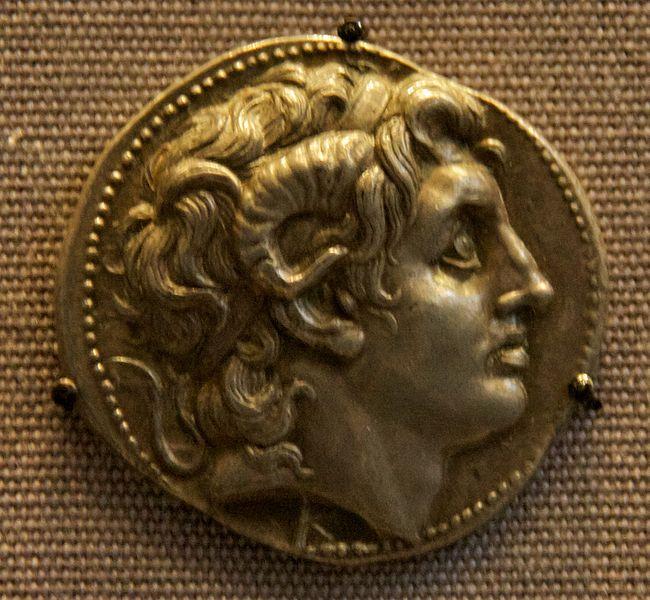 Монета с профилем Александра Македонского