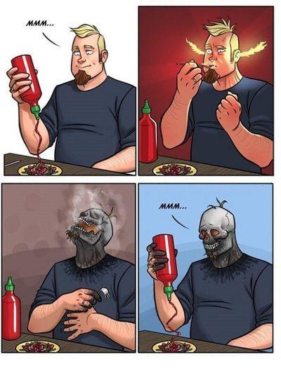 дегустация огненного соус
