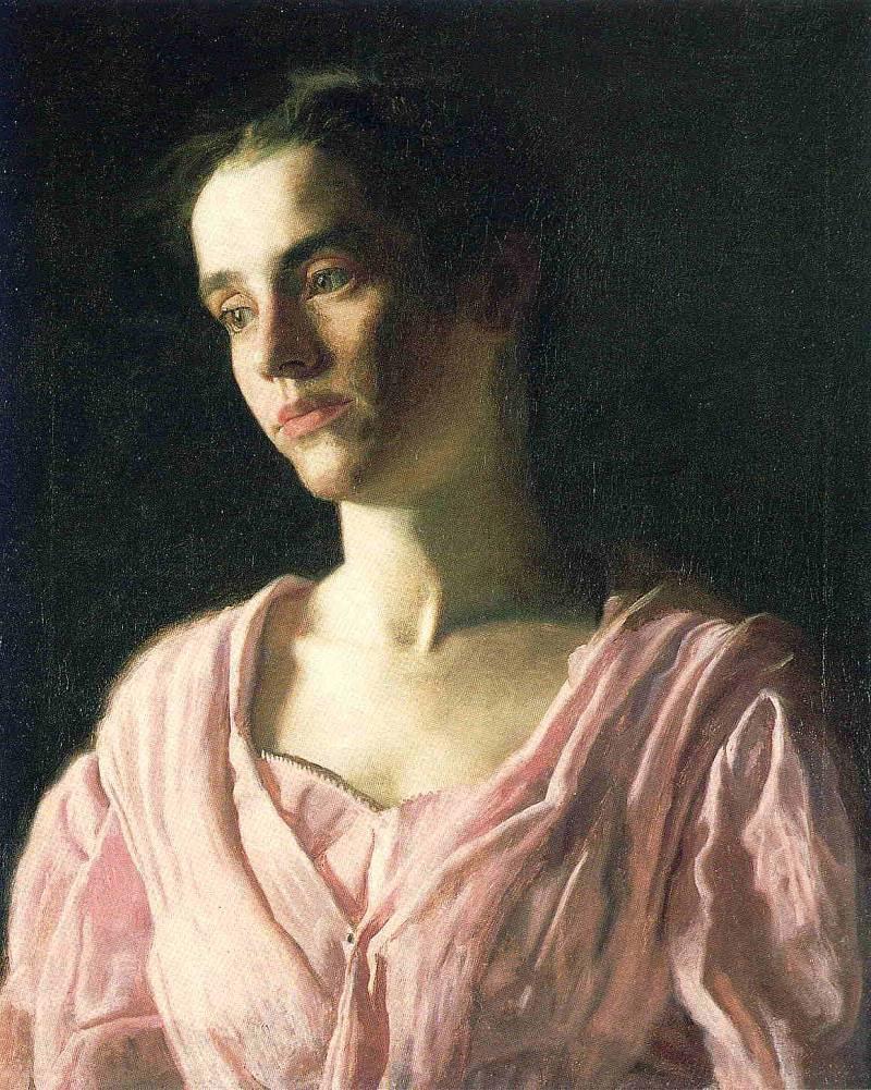Эндрю Уайет. Девушка в розовом, 1971