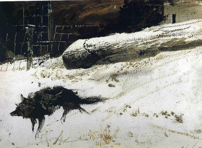 Эндрю Уайет. Дикая собака, 1940