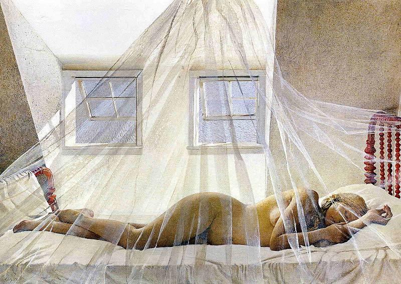 Эндрю Уайет. Дневной сон, 1980