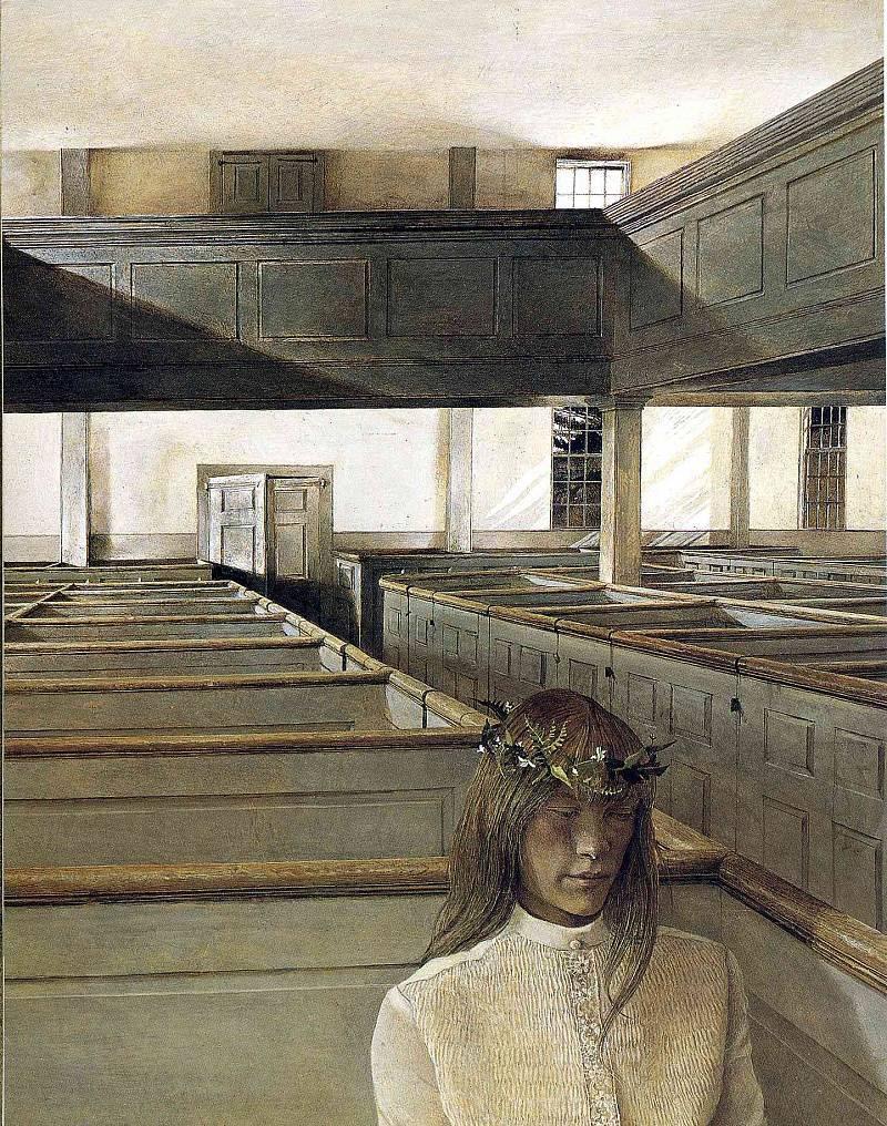 Эндрю Уайет. Хельга, 1974