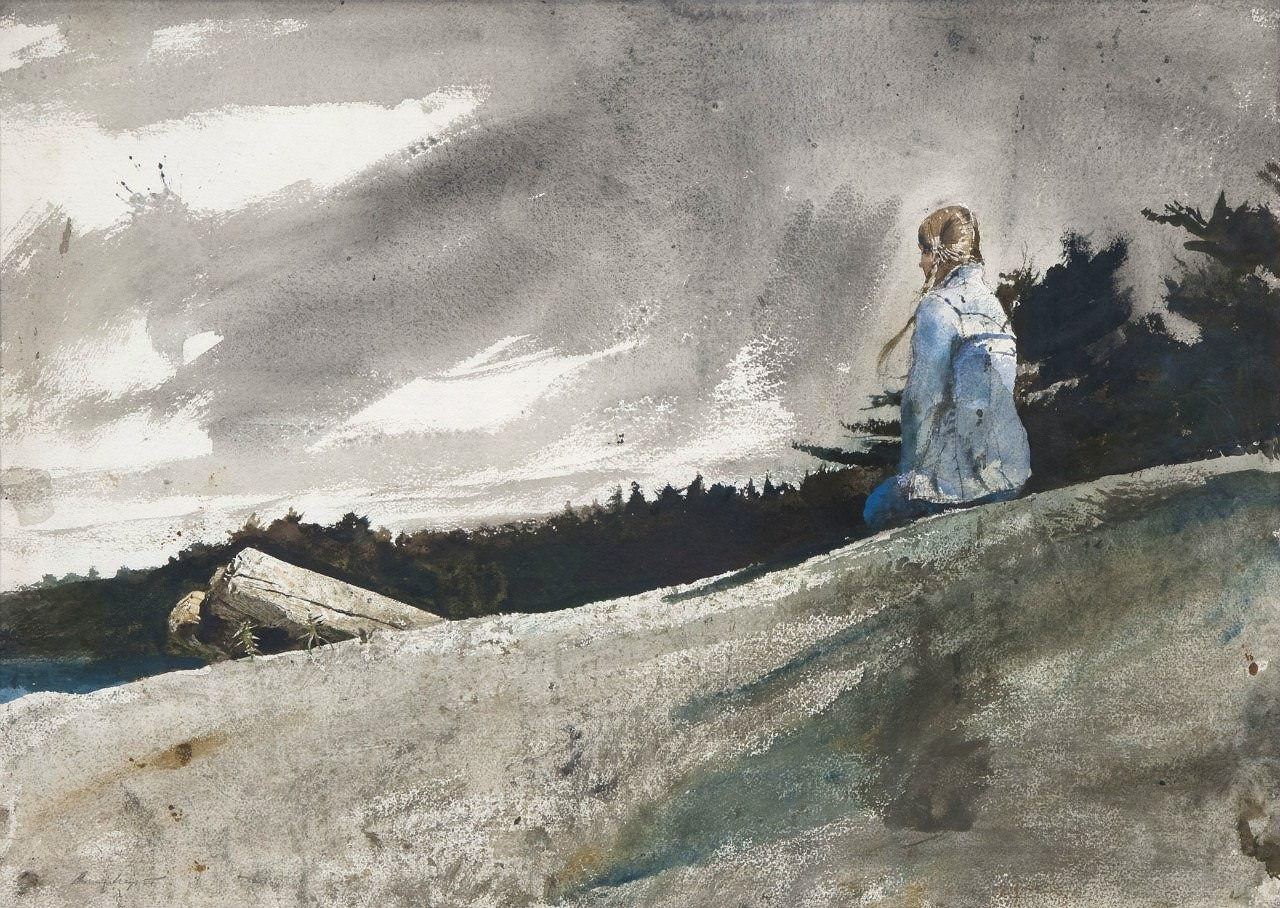 Эндрю Уайет. Ранец, 1980