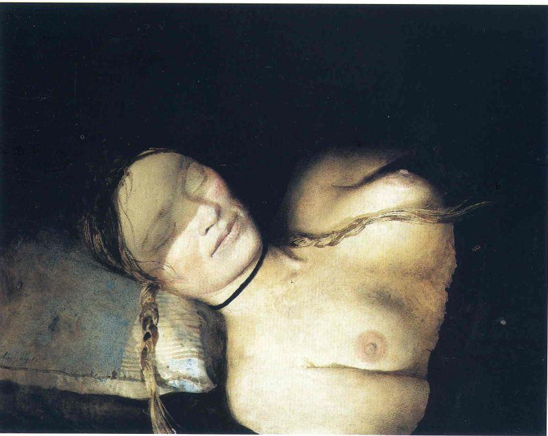 Эндрю Уайет. Ночная тень, 1979