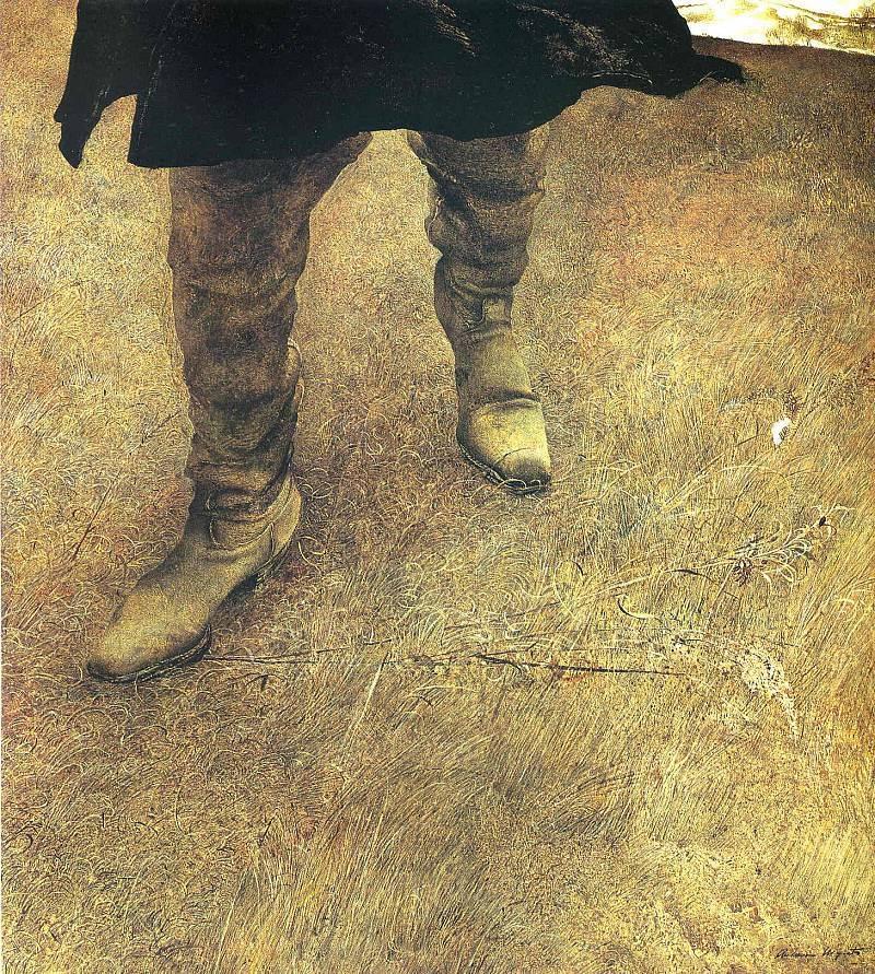 Эндрю Уайет. Шагающий по сорной траве, 1951
