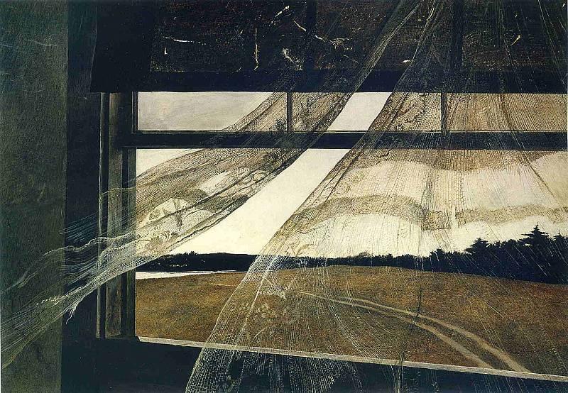 Эндрю Уайет. Ветер с моря, 1947