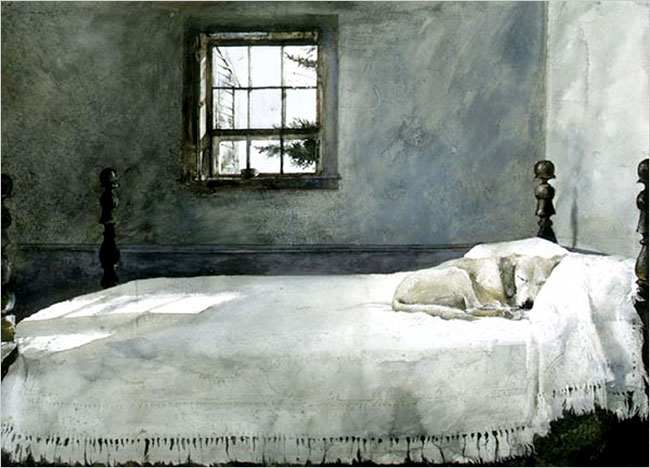 Эндрю Уайет. Хозяйская спальня, 1962