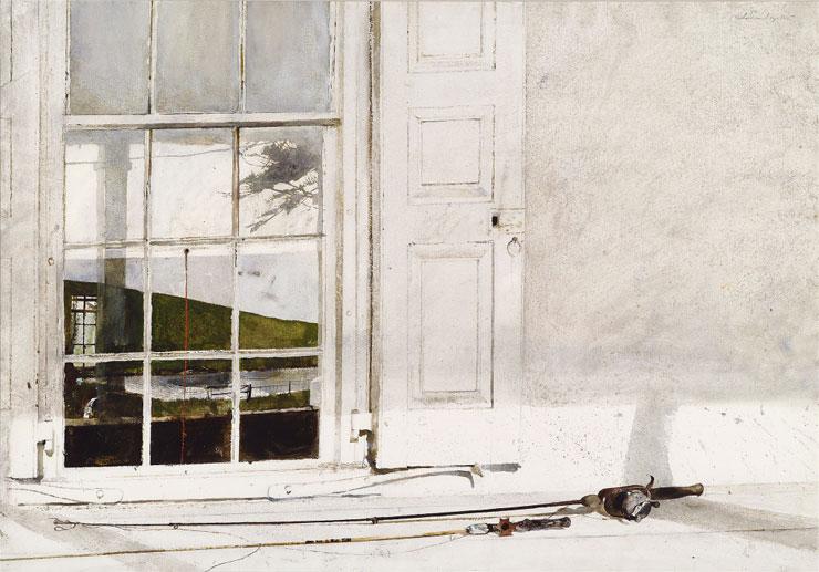 Эндрю Уайет. Удочка с катушкой, 1975