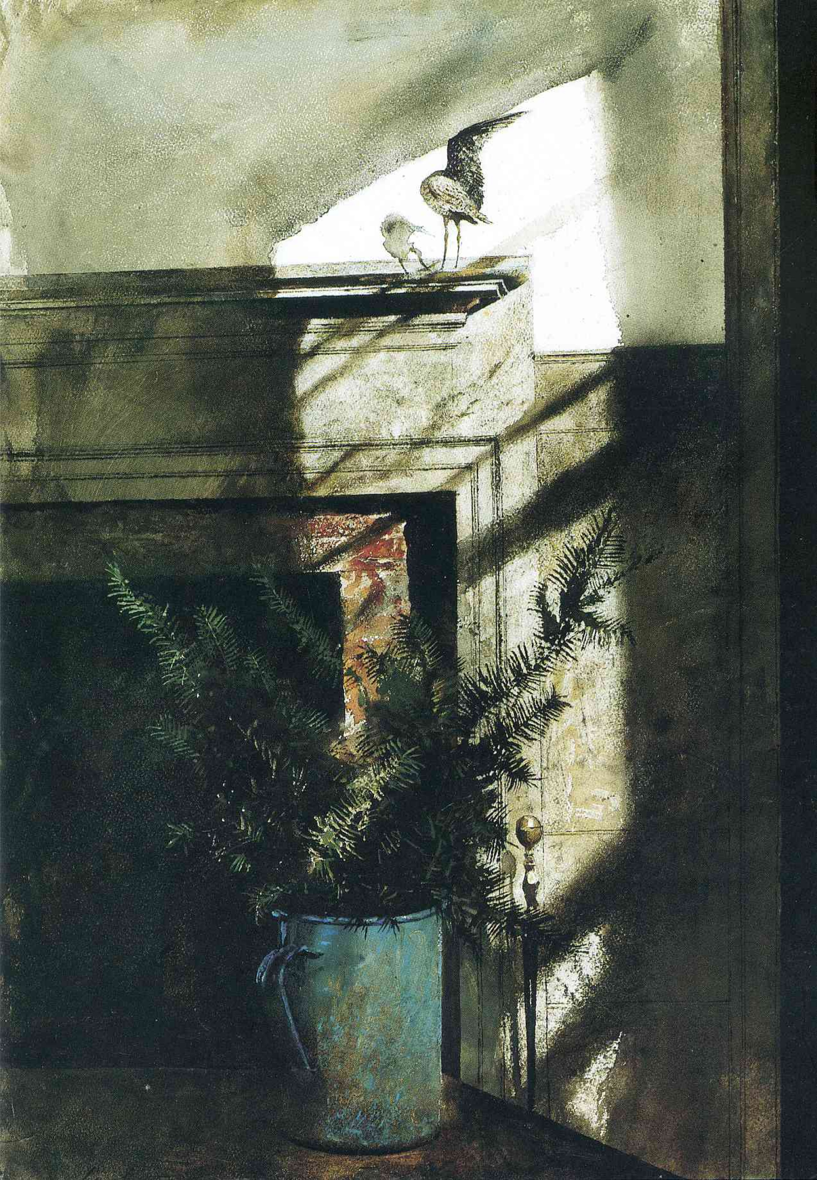 Эндрю Уайет. Птица в доме, 1984