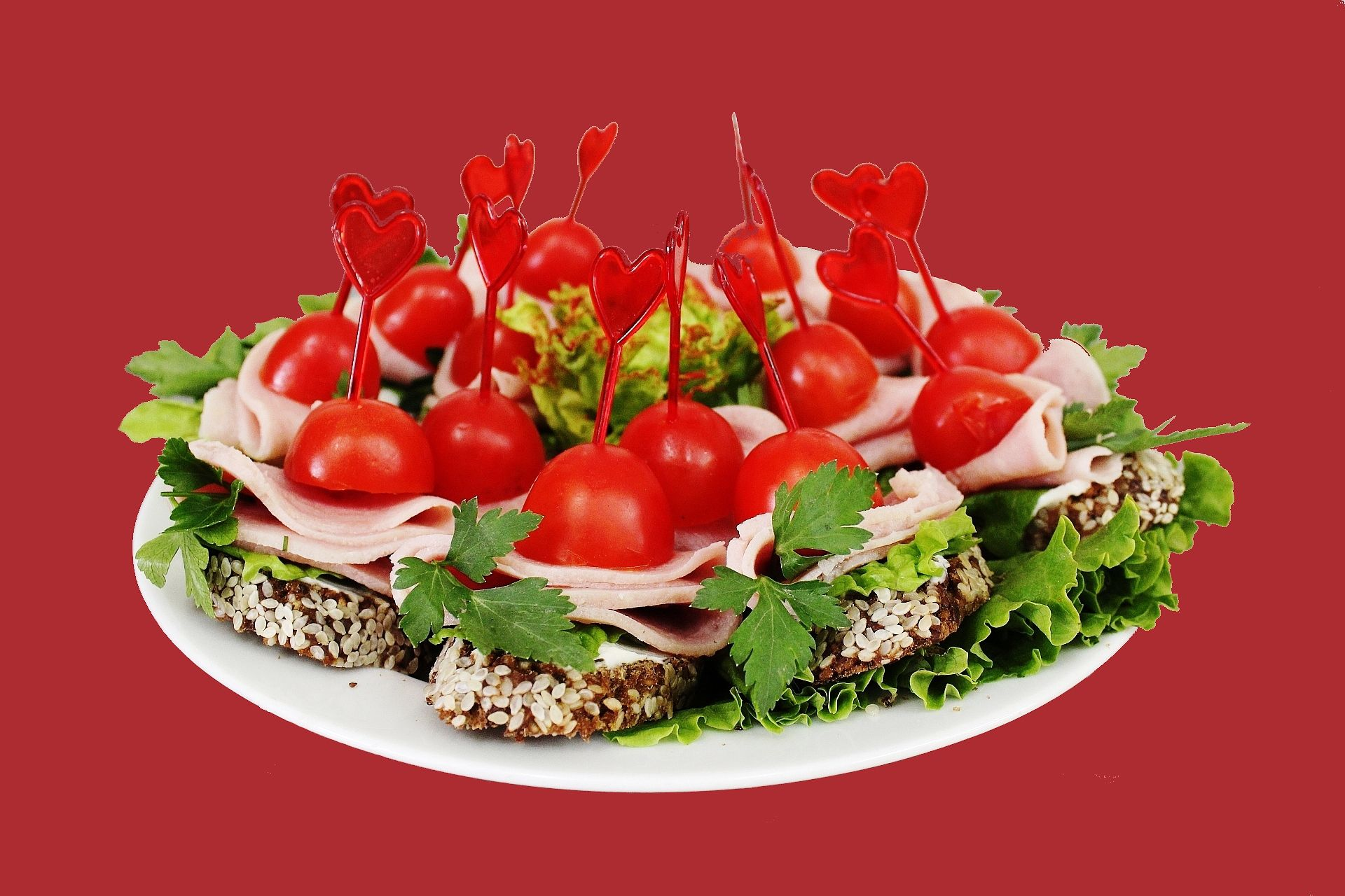 Красивые бутерброды с ветчиной